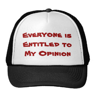 """Everyone is Entitled to My Opinion"" Cap"