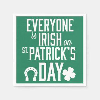 Everyone Is Irish On St Patricks Day Napkins Disposable Serviettes