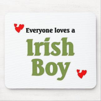 Everyone love a Irish Boy Mouse Pads