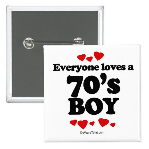 Everyone loves a 70's boy 15 cm square badge