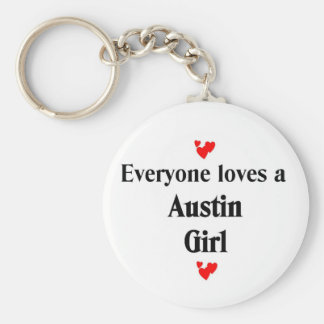Everyone loves a Austin Girl Basic Round Button Key Ring