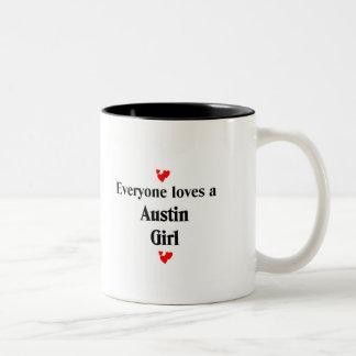 Everyone loves a Austin Girl Two-Tone Mug