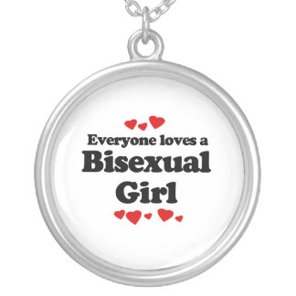 Everyone Loves a Bisexual Girl Silver Plated Necklace