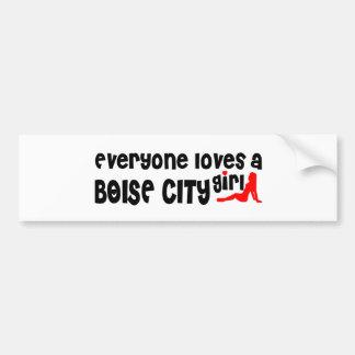 Everyone loves a Boise City girl Bumper Sticker