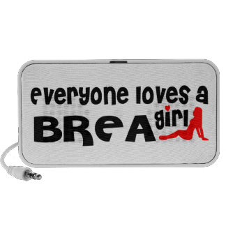 Everyone loves a Brea girl Mp3 Speakers