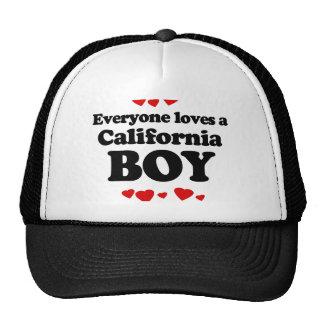 Everyone Loves a California Boy T-shirt Mesh Hats