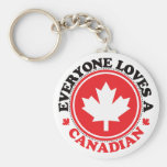 Everyone Loves a Canadian! Basic Round Button Key Ring