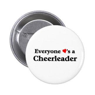 Everyone loves a cheerleader 6 cm round badge