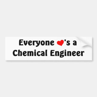Everyone loves a Chemical Engineer Bumper Sticker