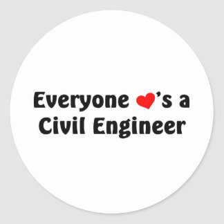 Everyone loves a Civil Engineer Round Sticker