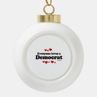 Everyone loves a Democrat Ceramic Ball Decoration