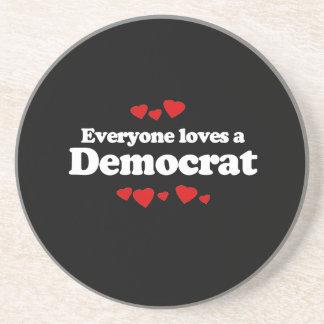 Everyone loves a Democrat - Beverage Coasters