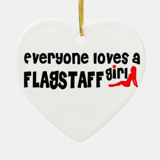 Everyone loves a Flagstaff girl Ceramic Heart Decoration