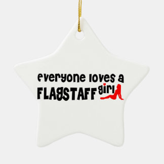 Everyone loves a Flagstaff girl Ceramic Star Decoration