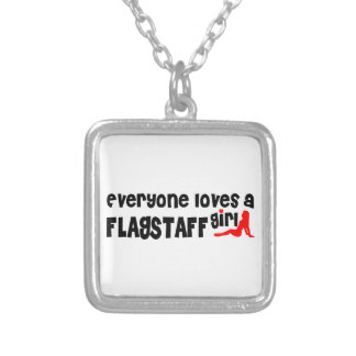 Everyone loves a Flagstaff girl Square Pendant Necklace
