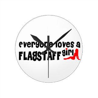 Everyone loves a Flagstaff girl Wall Clocks