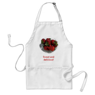 Everyone Loves a Fresh Bowl of Strawberries Adult Apron