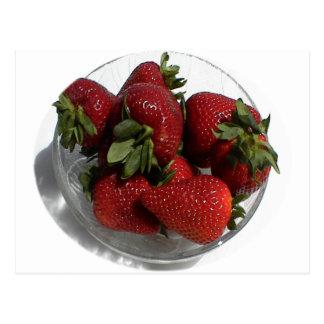 Everyone Loves a Fresh Bowl of Strawberries Postcard