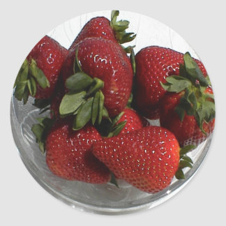 Everyone Loves a Fresh Bowl of Strawberries Classic Round Sticker