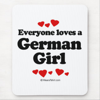 Everyone loves a German girl Mouse Mats