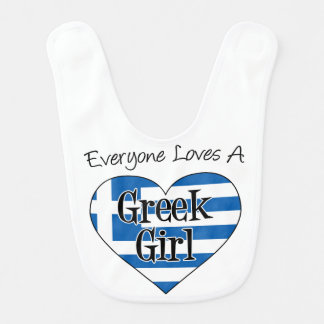 Everyone Loves A Greek Girl Bib