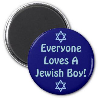Everyone Loves A Jewish Boy Magnet