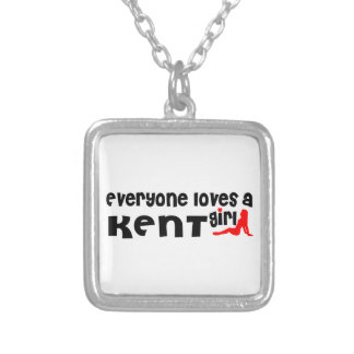 Everyone loves a Kent girl Square Pendant Necklace