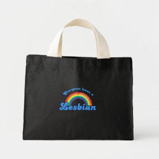 EVERYONE LOVES A LESBIAN MINI TOTE BAG
