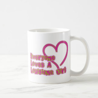 Everyone Loves a Louisiana Girl Basic White Mug