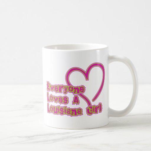 Everyone Loves a Louisiana Girl Mugs