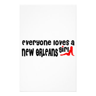 Everyone loves a New Orleans girl Personalized Stationery