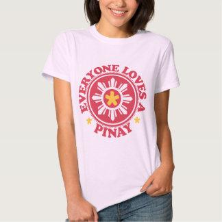 Everyone Loves a Pinay - Red Tee Shirt