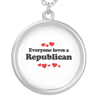 Everyone loves a Republican Round Pendant Necklace