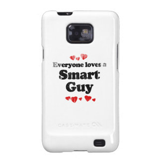 Everyone Loves a Smart Guy T-shirt Faded.png Samsung Galaxy S Cover