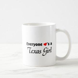 Everyone loves a Texas Girl Basic White Mug