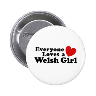 Everyone Loves A Welsh Girl Buttons