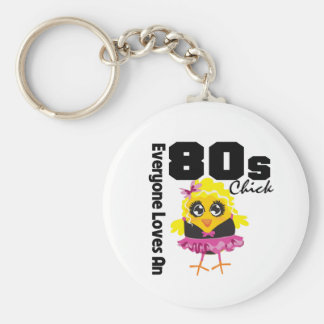 Everyone Loves An 80s Chick Basic Round Button Key Ring