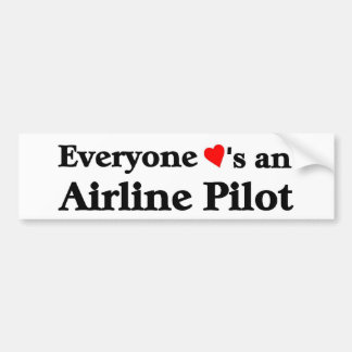 Everyone loves an airline pilot bumper sticker