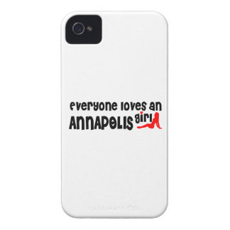 Everyone loves an Annapolis girl iPhone 4 Case-Mate Cases