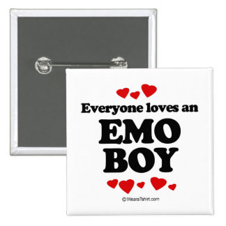Everyone loves an Emo boy 15 Cm Square Badge