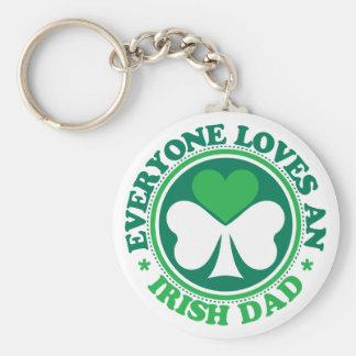 Everyone Loves an Irish Dad Basic Round Button Key Ring