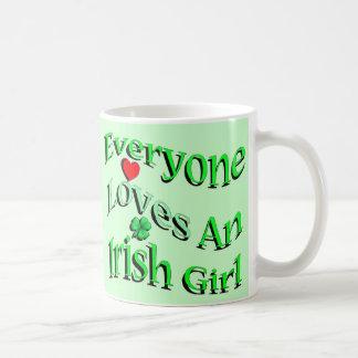 Everyone Loves An Irish Girl Coffee Mug