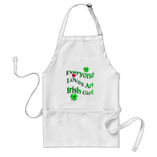 Everyone Loves An Irish Girl Standard Apron