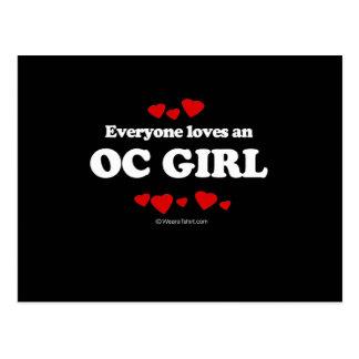 Everyone Loves an OC Girl T-shirt Post Cards