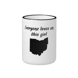 Everyone Loves An Ohio Girl Ringer Mug