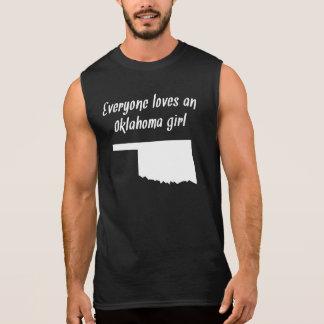 Everyone Loves An Oklahoma Girl Sleeveless Shirts