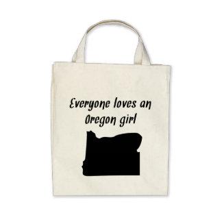 Everyone Loves An Oregon Girl Canvas Bags