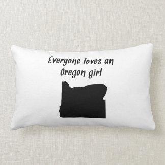 Everyone Loves An Oregon Girl Pillows