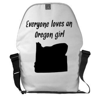 Everyone Loves An Oregon Girl Courier Bag