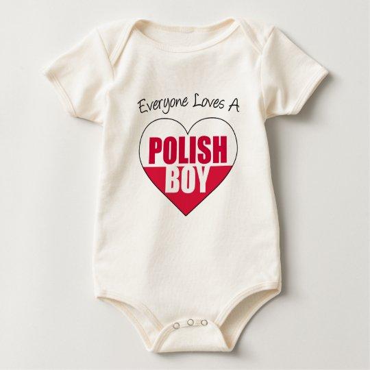 Everyone Loves Polish Boy Baby Bodysuit